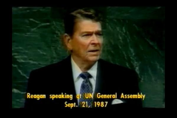 Reagan at the 1987 UN General Assembly